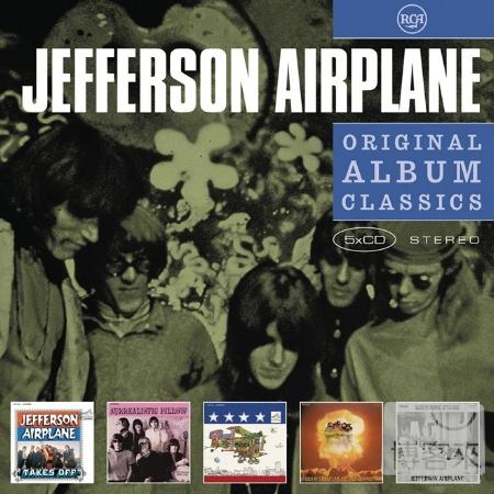《經典專輯全集系列》傑佛森飛船合唱團 / 經典專輯全集 (5CD)(Jefferson Airplane / Original Album Classics (5CD))