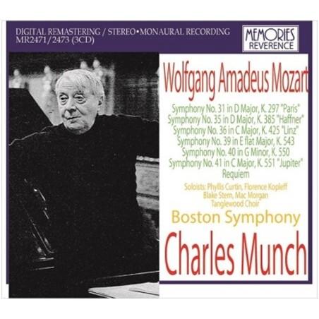 Munch with Boston Symphony - Mozart / Charles Munch (3CD)