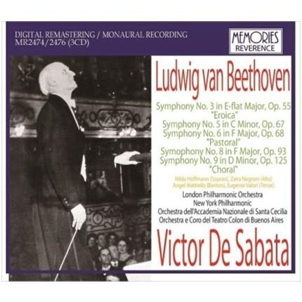 Sabata Beethoven symphony complete box / Victor De Sabata (3CD)