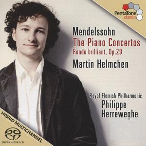 孟德爾頌:兩首鋼琴協奏曲、華麗的輪旋曲Op.29 / 馬丁‧漢姆辰、赫瑞維格指揮皇家法蘭德斯愛樂 (SACD) Mendelssohn: 2 Piano Concertos & Rondo brillant Op.29 / Martin Helmchen, Philippe Herreweghe & Royal Flemish Philharmonic (SACD)