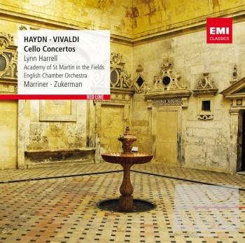 新.古典長紅 RED LINE / 海頓、韋瓦第:大提琴協奏曲 林哈瑞爾(大提琴)馬利納(指揮)聖馬丁室內樂團、祖克曼〈指揮)英國室內樂團 Haydn & Vivaldi: Cello Concertos / Lynn Harrell/Sir Neville Marriner/Pinchas Zukerman
