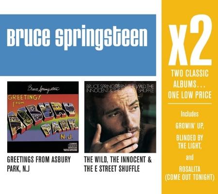 布魯斯史普林斯汀 / 巨星雙碟中價系列 (來自艾斯柏利公園的祝福 / 狂野純真與E大街樂隊) (2CD)(Bruce Springsteen / X2 (Greetings From Asbury P