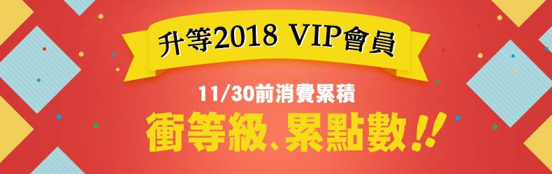 消費累積衝2018 VIP 資格11/31就要截止了