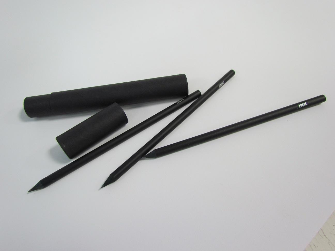 (贈品)印刻白鑽光耀黑鉛筆組
