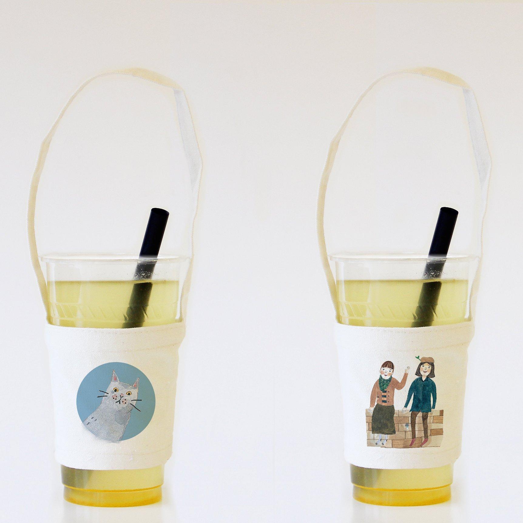 (贈品)「SOUPY手繪粉圓夢」飲料杯套提袋